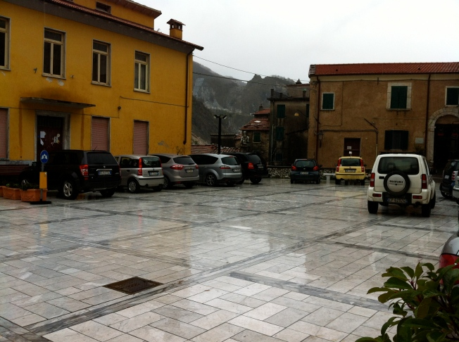 It was pouring cats and dogs the day we visited Colonnata...we were literally the only people there...and a cafe owner wanted to know how we had gotten there because the town had been cut off from the outside world for 5 days because of landslides